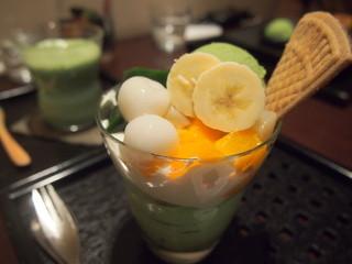 林屋茶園 そごう横浜10F店 - 抹茶パフェ 972円(ドリンクセット 1,296円)