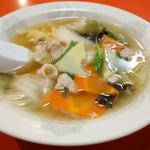 天津軒 - 2013年10月 五目スープ450円 野菜たっぷりです♪