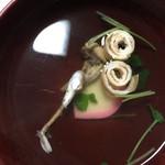 Fujiiya - お吸い物の肝は美味しい。