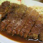 洋食マルヤ - Wトンカツ定食、トンカツが2枚と思いきや大きなカツがででーんと