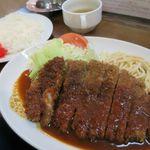 洋食マルヤ - Wトンカツ定食950円