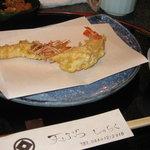 天ぷら じゅらく - 2種の海老