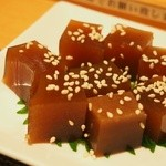 幸ちゃん寿司 - 穴子の煮こごり(サービス)