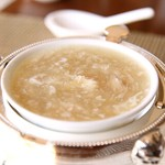 中国料理 皇苑 - 蟹肉入りふかひれスープ;ふかひれ3倍