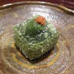 34993750 - ヨモギの胡麻豆腐