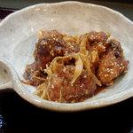烏帽子 - 鶏のごま味噌南蛮(480円)
