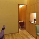 京辰 - 半個室は6名様まで可とのこと。