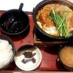どん亭 - カツとじ鍋膳