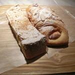 ル パン コティディアン - フレンチトースト280円、チーズアーモンドデニッシュ324円