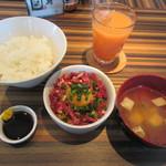 くすだま - 熊本名物!馬肉の桜納豆丼 1200円