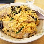 満北亭 - 豚肉ときくらげの玉子丼680円