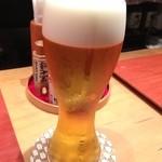 一富士 - ビールはうすはりで