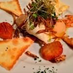 スミヴィノ - スモークホタテと玉葱のムース