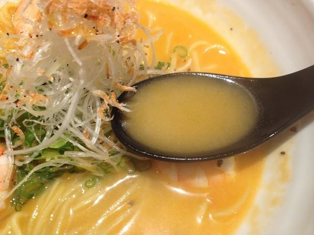 徹信 - 海老ラーメン(800円)スープ