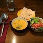 35019158 - ランチセット1,000円スープとサラダ。
