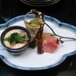 酒菜肉匠 ふるや - ミニ鋤焼膳の前菜