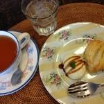チェルシーガーデン - 紅茶とアップルパイ、アイスを添えて
