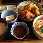 九重 - 日替りとり竜田揚げ定食840円
