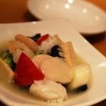 鼎泰豐 - 海鮮の炒め物(ほたて、烏賊、海老)