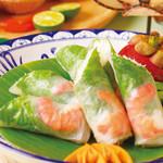 ベトナム料理 アンナンブルー - 料理写真:ゴイクン(生春巻/エビ入り)