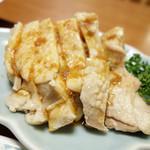 中国飯店紀淡 - 2013年10月 蒸し鶏(小)【480円】こちらも普通に1人前と言えるくらいの量(^^)