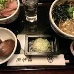 神田 味喜庵 - 本日まかない丼(ぶり丼と手打ち蕎麦)