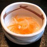 忍庭 - <'15/02/12撮影>A3黒毛和牛ロースのすき煮鍋と逸品お造りの特別ランチ御膳 1000円 のなます