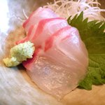 忍庭 - <'15/02/12撮影>A3黒毛和牛ロースのすき煮鍋と逸品お造りの特別ランチ御膳 1000円 のお造り
