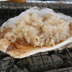 かき小屋 - 牡蠣飯の温め方♪