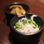薩摩魚鮮水産 - お通し、シラス
