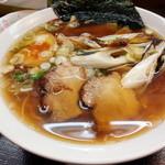 拉麺本家夢屋 - 醤油焼きネギラーメン