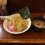 麺屋 御神本 - 豚骨魚介つけ麺 大盛り 800円