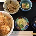 四季ダイニング 菜の葉 - えび天丼850円