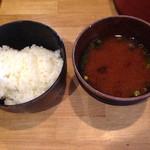 35058831 - 御飯と赤出汁