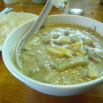 3506337 - 牛肉のグリーンカレーとご飯(香り米)