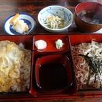 一力 - 料理写真:玉子丼とざるセット 通常1000円
