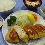 和風レストラン しんりん - 上州麦豚の「ネギ味噌カツ定食」1200円