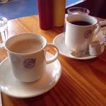 35062802 - カフェオレ&ホットオーガニックコーヒー