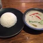タイ屋台料理&ヌードル オシャ - 『グリーンカレー』様(720円)※5辛。辛さは聞くと変更してくれます。