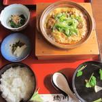 楠川 - 柳川鍋定食@1500円(税込み)