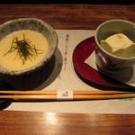 35064028 - とろろ汁と豆腐