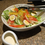おべん - 食べ放題コースの先出しサラダ