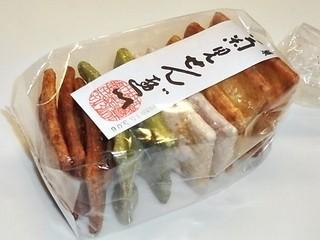 菊見せんべい総本店 - 煎餅4種