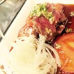 鉄板焼き 伽門 - 和牛のタタキ