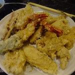 磯乃松 - 料理写真:天ぷら定食。鉢盛り