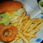 アンクル・サム - ベーコンエッグバーガー450円+オニポテ・サラダドリンク・セット330円=780円
