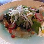 35070857 - 鮮魚のカルパッチョは生ビールのあてに。