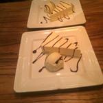 35073217 - デザートのチーズケーキとアイス、、、