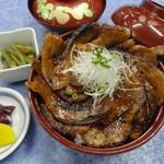和風レストラン しんりん - 奥利根豚の「味噌漬けバラ炙り丼」1200円