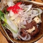双麺 - 牛すじ煮込み飯:煮込み豆腐飯風でわざわざ頼むほどじゃないような